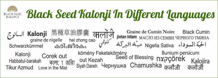 Black Seed Kalonji in Different languages