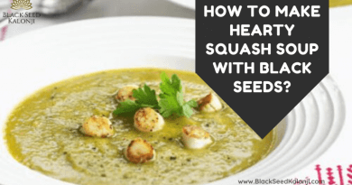 Hearty Squash Soup with Black Seeds